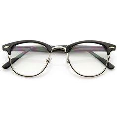 Vintage Optical RX Clear Lens Half Frame Glasses 2946 from zeroUV. Half Frame Glasses, Fake Glasses, Vintage Glasses Frames, Tumblr Glasses Frames, Cute Glasses Frames, Cool Glasses, Wayfarer Sunglasses, Cat Eye Sunglasses, Bracelets