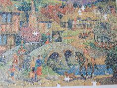 Et mega gammel puslespil som jeg har samlet mange gange som barn. 1000 brikker.