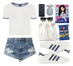 """""""Somebody to you"""" by vanessasimao1999 ❤ liked on Polyvore featuring moda, Proenza Schouler, One Teaspoon, Topshop, adidas Originals, CÉLINE, Les Parfums De Rosine, simpleoutfit, everydayoutfit ve casualoutfit"""