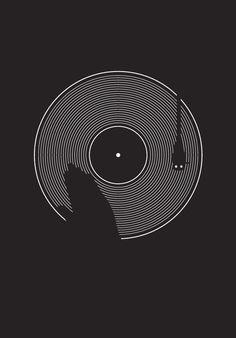 DJ artwork for logo. #dj #djculture #djart #music http://www.pinterest.com/TheHitman14/dj-culture-vinyl-fantasy/