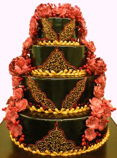 Indian Wedding cakes  See www.weddingsonline.in for wedding inspiration