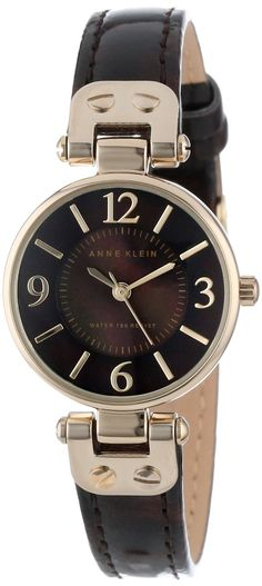 Anne Klein Women's AK/1352BMTO Gold-Tone Tortoise Pattern Strap Watch : Disclosure: Affiliate link