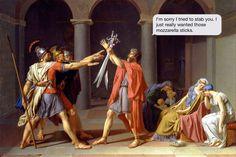 """""""The Oath of the Horatii"""" by Jacques-Louis David (Louvre Museum, Paris) Jacque Louis David, Jean Louis David, David Painting, Museum Paris, Jean Leon, Tableaux Vivants, Toledo Museum Of Art, Louvre Paris, Google Art Project"""