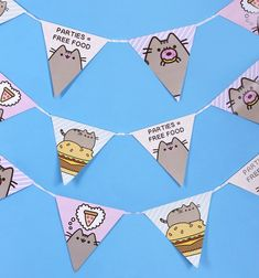 The purrfect addition to your next shindig (or to just brighten up any room with Pusheen's lovable face!), if you love all things Pusheen, then this colourful, paper Pusheen bunting is bound to be your must-have!
