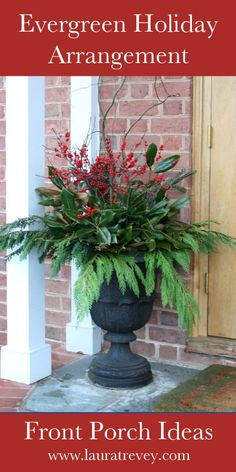 Natural Outdoor Christmas Decorations | Laura Trevey