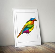 Colourful bird illustration by Ricardo Queiroz