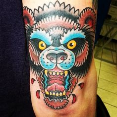 Rik - Bear tattoo American traditional