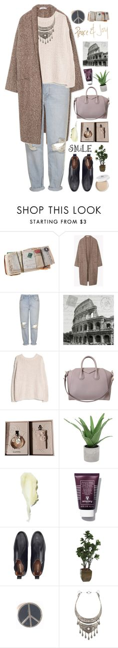 """""""Set 842 ft. MANGO Flecked Cotton-Blend Coat"""" by yen-and-len ❤ liked on Polyvore featuring MANGO, Topshop, Colosseum, Givenchy, Valentino, Threshold, Sisley Paris, Ethan Allen, Natalie B and women's clothing"""