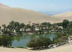 Huacachina - Ica, Peru Sandboarded here. Real life Oasis.