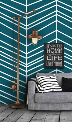Herringbone Pattern Self Adhesive Vinyl Wallpaper D098 by Livettes, $34.00