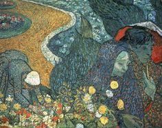 Vincent Van Gogh: Promenade At Arles, Souvenir From The Etten Gardens  ~ Hermitage Museum St. Petersburg