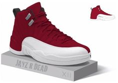 Air Jordan 12 Retro Gym Red release date and purchase information, as well as artist renderings of the upcoming colorway.