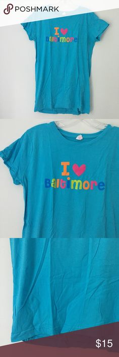"""CUTE BALTIMORE CITY MD MARYLAND SOFT TEE SHIRT TOP Brand new 