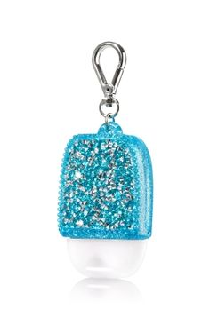 Glitzy Gems - Turquoise - PocketBac Holder - Bath & Body Works - Shimmer & shine with these glittering gems! A convenient clip attaches to your backpack, purse and more so you can always keep your favorite sanitizer close at hand. Perfume, Body Works, It Works, Alcohol En Gel, Bath N Body, Hand Sanitizer Holder, Bath And Bodyworks, Best Bath, Backpack Purse