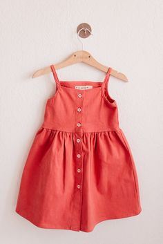 Pips and Poppy Heather Dress in Watermelon Frocks For Girls, Kids Frocks, Dresses Kids Girl, Baby Girl Romper, Baby Dress, Look Fashion, Kids Fashion, Baby Frocks Designs, Sewing Kids Clothes