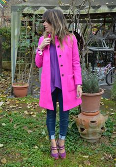 Don't Call Me Fashion Blogger!: Christmas presents:: Jcrew fuchsia coat