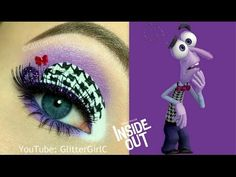 INSIDE OUT FEAR MAKEUP TUTORIAL. Youtube channel: full.sc/SK3bIA