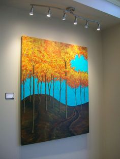 15% OFF TODAY ONLY at @Whitman Works Company!  Autumn Woods by Mike Kraus. This large format painting transforms any room with its warmth and vibrancy. Purchase and learn more at https://www.whitmanworks.com/art-products/autumn-woods