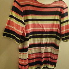 Colorful, comfotable top A pima cotton top. 100% prima cotton Charter Club Tops Blouses
