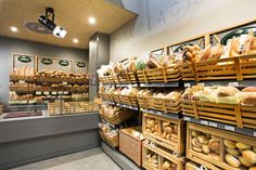 Alma grocery by MOCO LOCCO, Krakow Poland store design - BAKERY