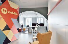 Ambiance scandinave dans les bureaux de cette agence de communication nantaise