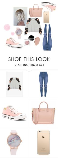 """""""Untitled #5"""" by aylahxl ❤ liked on Polyvore featuring Monki and Converse"""