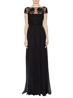 Magnolia Silk Floral Bodice Gown from Temperley London on Gilt