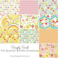 Ooooh here's a chance to win some lovely fabric!  Hexi Pouch and Riley Blake Designs Bundle Giveaway - The Cottage Mama