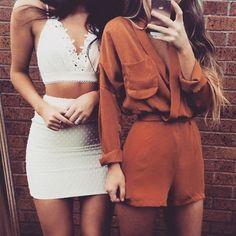 Luxe sisters ✔️ Polka Top + Skirt | Drape Playsuit - camel by #SaboSkirt #SaboLuxe