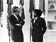Richard Nixon and James Brown