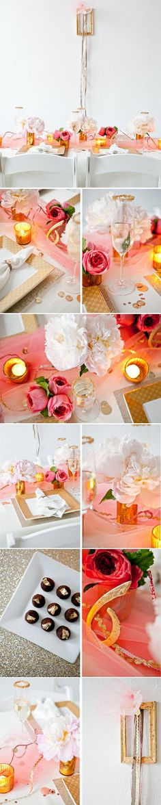 modern pink and gold