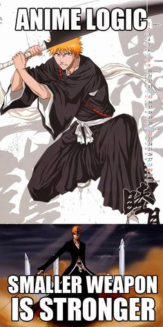 Ichigo bankai!! The first time i saw i was just like, what? Its so small!