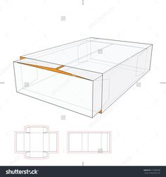 Tray And Sleeve Storage Box With Die-Cut Layout Stock Vector Illustration 177383708 : Shutterstock