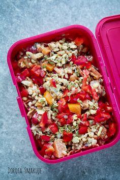 Lunchbox do pracy cz 3 Pasta Salad, Cobb Salad, Food Ideas, Lunch Box, Ethnic Recipes, Diet, Crab Pasta Salad, Bento Box