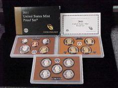 2011 United States Mint Proof Set in Original Box w COA 14 Coin Set   eBay