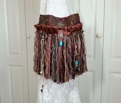 Hippie Gypsy Bag  Bohemian Fringe Purse  Tie Dyed by Pursuation