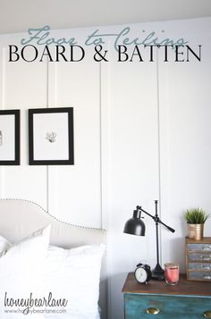 Wainscoting Exterior Board And Batten wainscoting exterior shabby chic.Wainscoting Exterior Board And Batten wainscoting trim molding ideas. Wainscoting Bedroom, Bedroom Wall, Master Bedroom, Wainscoting Styles, Master Bath, Black Wainscoting, Wainscoting Kitchen, Painted Wainscoting, Wainscoting Panels