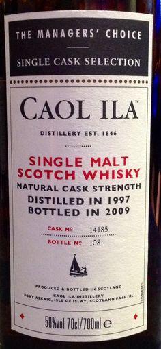 Caol Ila 1997/2009 11yo 58% (366 bottles)