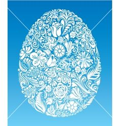 Floral Easter egg vector - by polygraphus on VectorStock®
