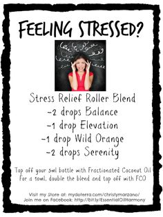 Stress Blend | doTERRA Essential Oils | Visit my store at: www.mydoterra.com/christymarzano | Join my Facebook group: Essential Oil Harmony