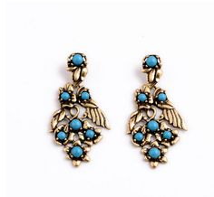 Vintage style chandelier earrings, turquoise beads from Yiwuproducts.com