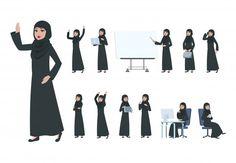 Arabic Characters, Girls Characters, Female Characters, Muslim Girls, Muslim Women, Couple Musulman, Teacher Cartoon, Elderly Person, Arab Men