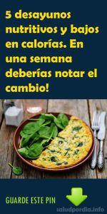 5 desayunos nutritivos y bajos en calorías. En una semana deberías notar el cambio!