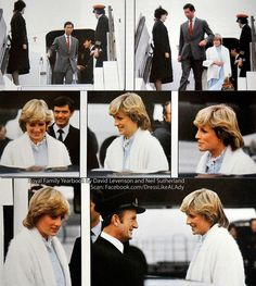 Princess Diana returning from Bahamas holiday where she was photographed pregnant in a bikini