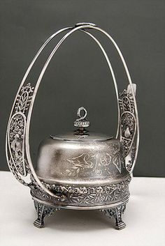 Pairpoint Quadruple Plate Coffee Service | FABULOUS VICTORIAN QUADRUPLE SILVER PLATE BUTTER DISH Completed