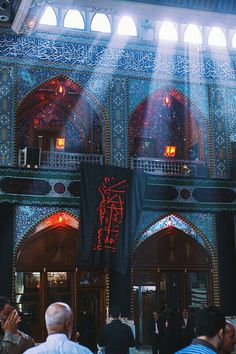 Inside the mosque of Abbas Ibn Ali in Karbala during the first days Muharram