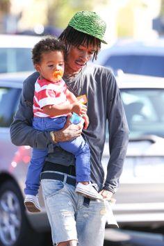*EXCLUSIVE* Wiz Khalifa and sweet Sebastian go for a grocery run.