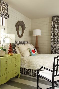 Love the dresser by the bed.