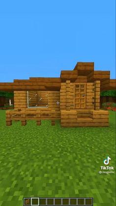 Minecraft Cottage, Easy Minecraft Houses, Minecraft House Tutorials, Minecraft Room, Minecraft Plans, Minecraft Videos, Minecraft Decorations, Amazing Minecraft, Minecraft Tutorial