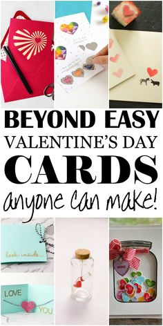 Some of the best Valentine's Days card ideas that are beyond easy. Most of the cards are so simple they can be made with materials you already have at home!